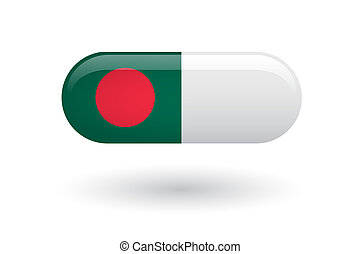 drapeau, pilule, bangladesh