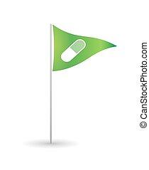 drapeau, pilule