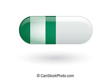 drapeau, pilule, nigeria