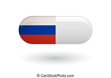 drapeau, pilule, russie