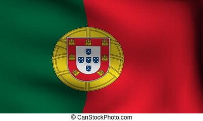 drapeau, portugal, fond