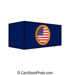 drapeau, récipient, bouton