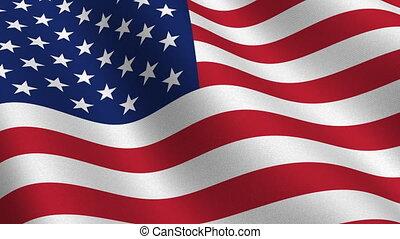 drapeau, seamless, usa, boucle