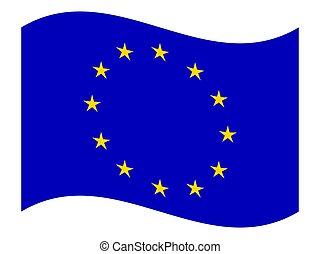 drapeau syndicats, vector., européen