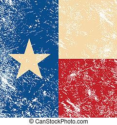 drapeau texas, retro