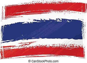 drapeau thaïlande, grunge