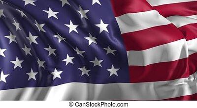 drapeau, uni, amérique, etats