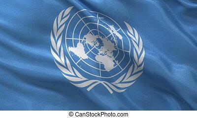 drapeau, uni, boucle, nations