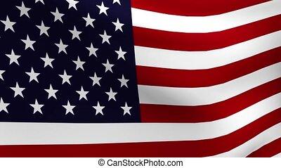 drapeau, usa, boucle, ondulation