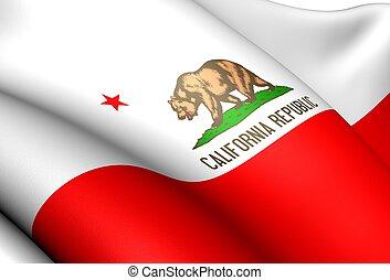 drapeau, usa., californie