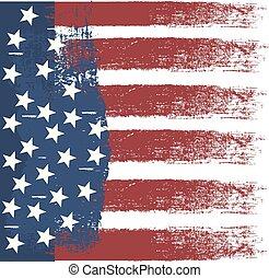 drapeau, vecteur, conception, raie, usa