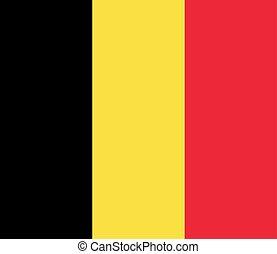 drapeau, vecteur, eps10, illustration, belgium.
