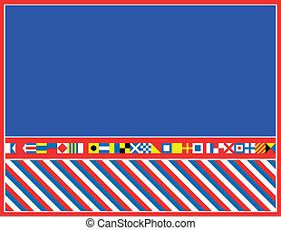 drapeau, vecteur, frontière, eps8, nautique