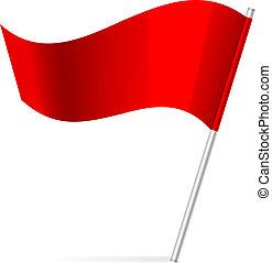 drapeau, vecteur, illustration
