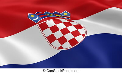 drapeau, vent, croate