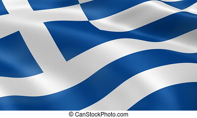 drapeau, vent, grèce