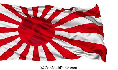 drapeau, vent, japon, réaliste