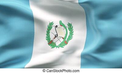 drapeau, vent, plissé, gutemala