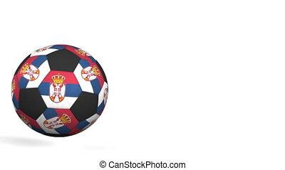 drapeaux, caractériser, balle, serbie, football