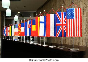drapeaux internationaux