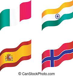 drapeaux, national