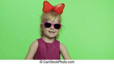 dress., danse, pourpre, chroma, doigt, clã©, girl, forward., spectacles