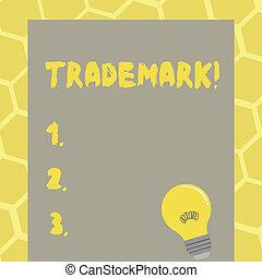 droit d'auteur, texte, projection, trademark., intellectuel, signe, protection., photo, conceptuel, legally, propriété, enregistré