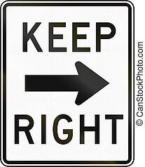 droit, garder