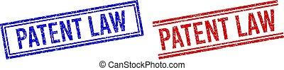 droit & loi, brevet, lignes, détresse, textured, double, cachet