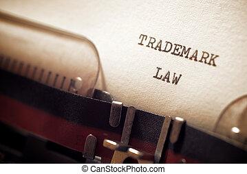 droit & loi, concept, marque déposée