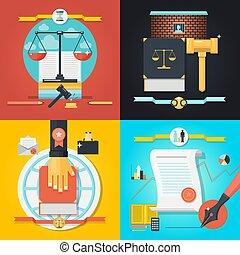droit & loi, ensemble, composition