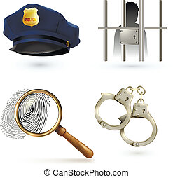 droit & loi, ensemble, icônes