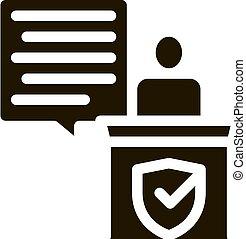 droit & loi, jugement, document, illustration, vecteur, icône