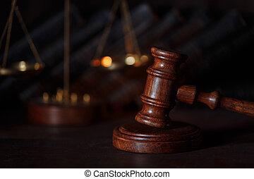droit & loi, justice, concept, balances, gavel., juge