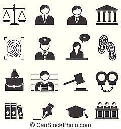 droit & loi, justice, légal, icônes