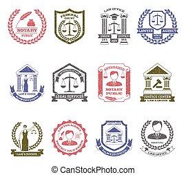 droit & loi, logo, ensemble, ordre, timbres