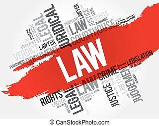 droit & loi, mot, nuage
