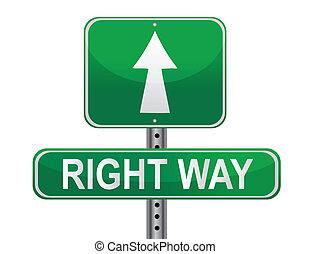 droit, rue, manière, signe