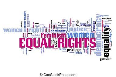 droits, égal, femmes