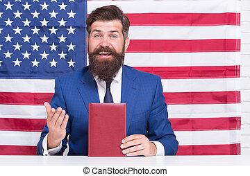 droits, avocat, beau, libertés, concept, américain, savoir, ton, constitutional, homme, promouvoir