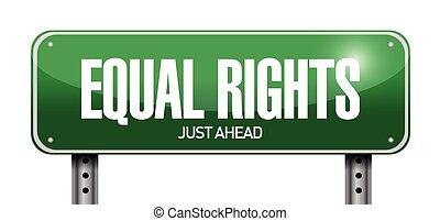 droits, conception, égal, illustration, signe