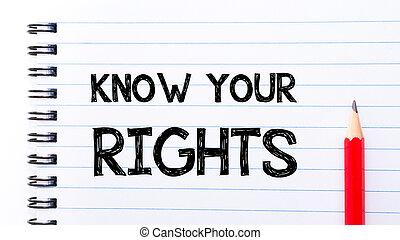 droits, texte, ton, écrit, cahier, savoir, page