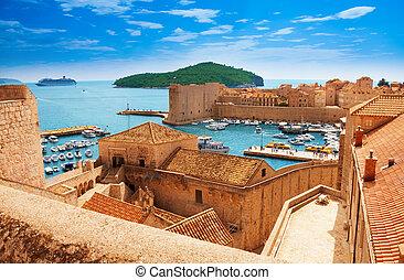 dubrovnik, murs, port