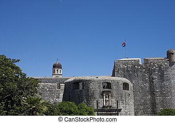dubrovnik, vieux, forteresse