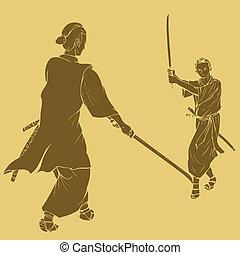 duel, samouraï