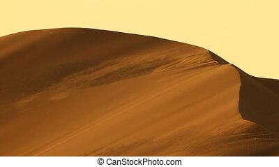dune, désert, lourd, vent