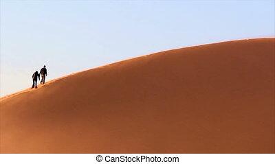 dune, sable, trekking