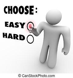 dur, -, difficulté, niveaux, choisir, facile, ou