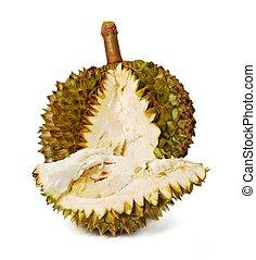 durian., exotique, géant, fruit.