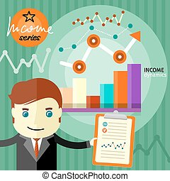 dynamique, concept, revenu